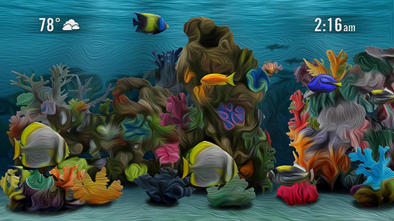 Screensaver aquarium screensaver roku forums for Fish tank paint